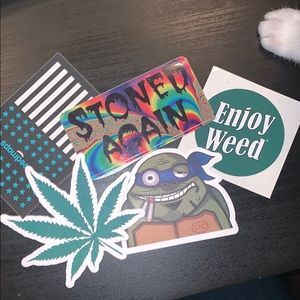 Stone again 420 weed friendly stickers